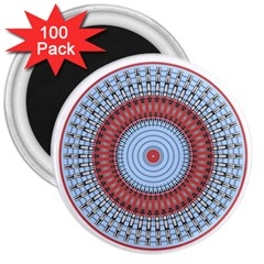 Pattern Design Circular Shape 3  Magnets (100 Pack)