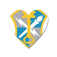 U S  Army Intelligence And Security Command Shoulder Sleeve Insignia Heart Magnet by abbeyz71