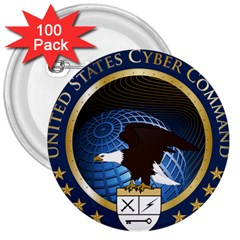 Seal Of United States Cyber Command 3  Buttons (100 Pack)  by abbeyz71
