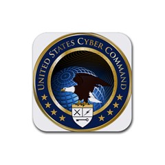 Seal Of United States Cyber Command Rubber Coaster (square)  by abbeyz71
