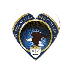 Seal Of United States Cyber Command Heart Magnet by abbeyz71