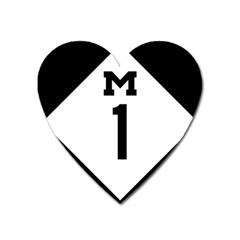 Michigan Highway M 1 Heart Magnet by abbeyz71