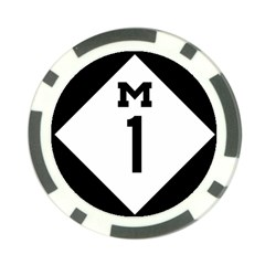 Michigan Highway M-1 Poker Chip Card Guard by abbeyz71