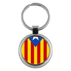 Blue Estelada Catalan Independence Flag Key Chains (round)  by abbeyz71