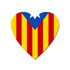 Blue Estelada Catalan Independence Flag Heart Magnet by abbeyz71