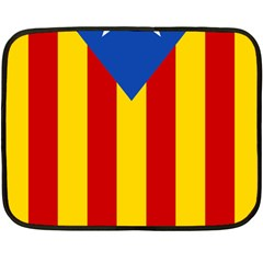 Blue Estelada Catalan Independence Flag Double Sided Fleece Blanket (mini)  by abbeyz71
