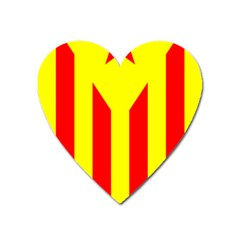 Red Estelada Catalan Independence Flag Heart Magnet by abbeyz71