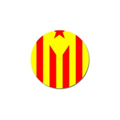 Red Estelada Catalan Independence Flag Golf Ball Marker (10 Pack) by abbeyz71