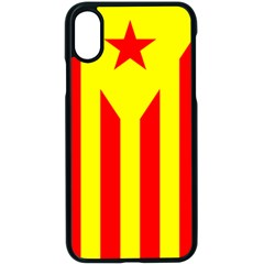Red Estelada Catalan Independence Flag Apple Iphone X Seamless Case (black)