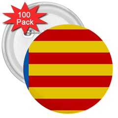 Valencian Nationalist Senyera 3  Buttons (100 Pack)  by abbeyz71