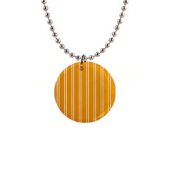 Nice Stripes In Honey Orange  1  Button Necklace