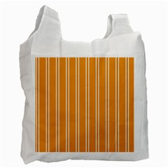 Nice Stripes In Honey Orange  Recycle Bag (one Side)