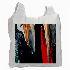 Art Modern Painting Background Recycle Bag (two Side)