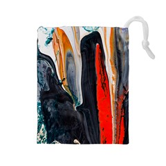 Art Modern Painting Background Drawstring Pouch (large)