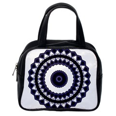 Design Mandala Pattern Circular Classic Handbag (one Side) by Pakrebo