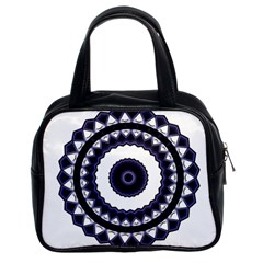 Design Mandala Pattern Circular Classic Handbag (two Sides) by Pakrebo