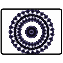 Design Mandala Pattern Circular Fleece Blanket (large)