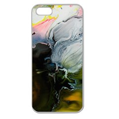 Art Abstract Painting Apple Seamless Iphone 5 Case (clear)