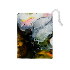 Art Abstract Painting Drawstring Pouch (medium)