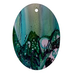 Abstract Art Modern Surreal Ornament (oval)