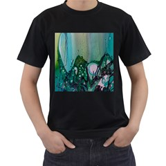 Abstract Art Modern Surreal Men s T Shirt (black) by Pakrebo