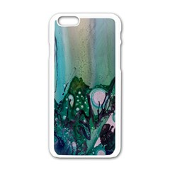 Abstract Art Modern Surreal Apple Iphone 6/6s White Enamel Case