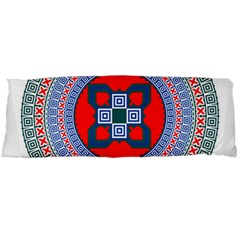 Design Circular Aztec Symbol Body Pillow Case (dakimakura) by Pakrebo