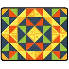 Background Geometric Color Double Sided Fleece Blanket (medium)