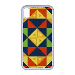 Background Geometric Color Apple Iphone Xr Seamless Case (white)