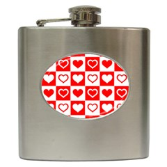 Background Card Checker Chequered Hip Flask (6 Oz)