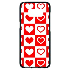 Background Card Checker Chequered Samsung Galaxy S8 Black Seamless Case
