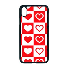 Background Card Checker Chequered Apple Iphone Xr Seamless Case (black)