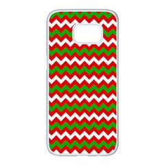 Christmas Paper Scrapbooking Pattern Samsung Galaxy S7 Edge White Seamless Case