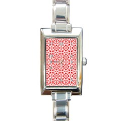 Background Card Checker Chequered Rectangle Italian Charm Watch