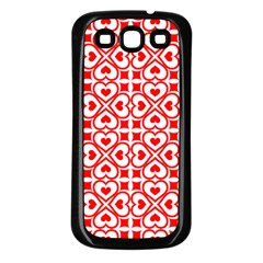 Background Card Checker Chequered Samsung Galaxy S3 Back Case (black)