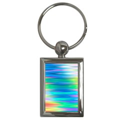 Wave Rainbow Bright Texture Key Chains (rectangle)