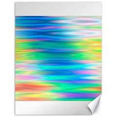Wave Rainbow Bright Texture Canvas 18  X 24