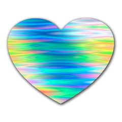Wave Rainbow Bright Texture Heart Mousepads