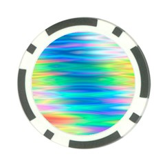 Wave Rainbow Bright Texture Poker Chip Card Guard