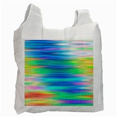 Wave Rainbow Bright Texture Recycle Bag (one Side)