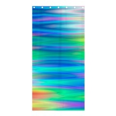Wave Rainbow Bright Texture Shower Curtain 36  X 72  (stall)