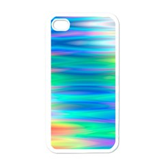 Wave Rainbow Bright Texture Apple Iphone 4 Case (white) by Pakrebo