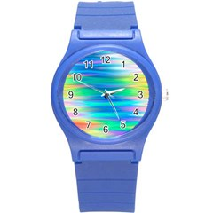 Wave Rainbow Bright Texture Round Plastic Sport Watch (s)