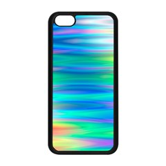 Wave Rainbow Bright Texture Apple Iphone 5c Seamless Case (black)