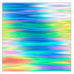 Wave Rainbow Bright Texture Large Satin Scarf (square)