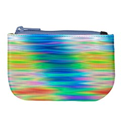 Wave Rainbow Bright Texture Large Coin Purse by Pakrebo