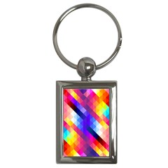 Abstract Background Colorful Pattern Key Chains (rectangle)