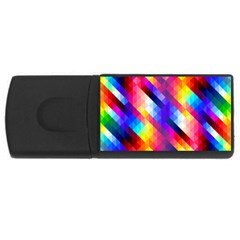 Abstract Background Colorful Pattern Rectangular Usb Flash Drive