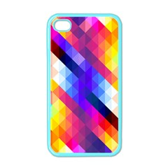Abstract Background Colorful Pattern Apple Iphone 4 Case (color)