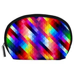 Abstract Background Colorful Pattern Accessory Pouch (large)